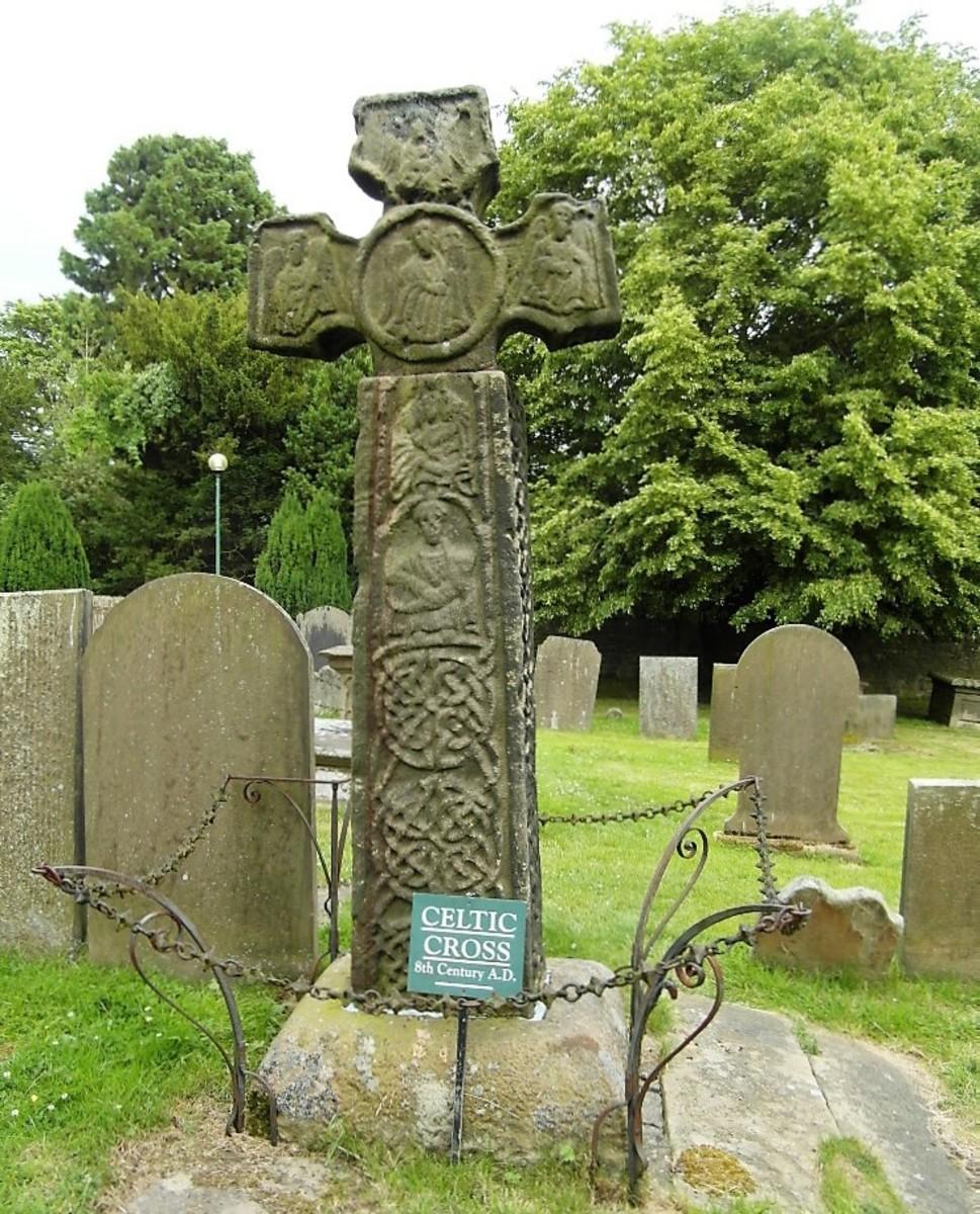 The Saxon Cross, Eyam Parish Church.