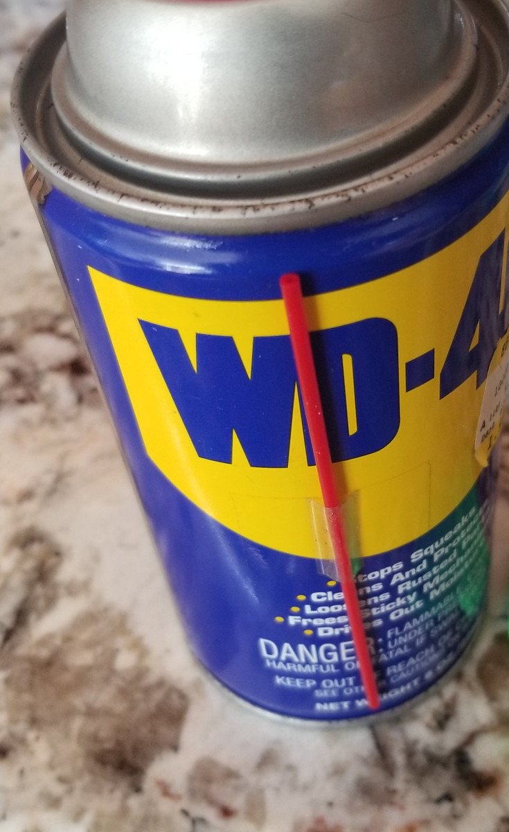 Although you may not think of it as a stainless steel cleaning agent, WD-40 can help make your stainless steel oven door shine.