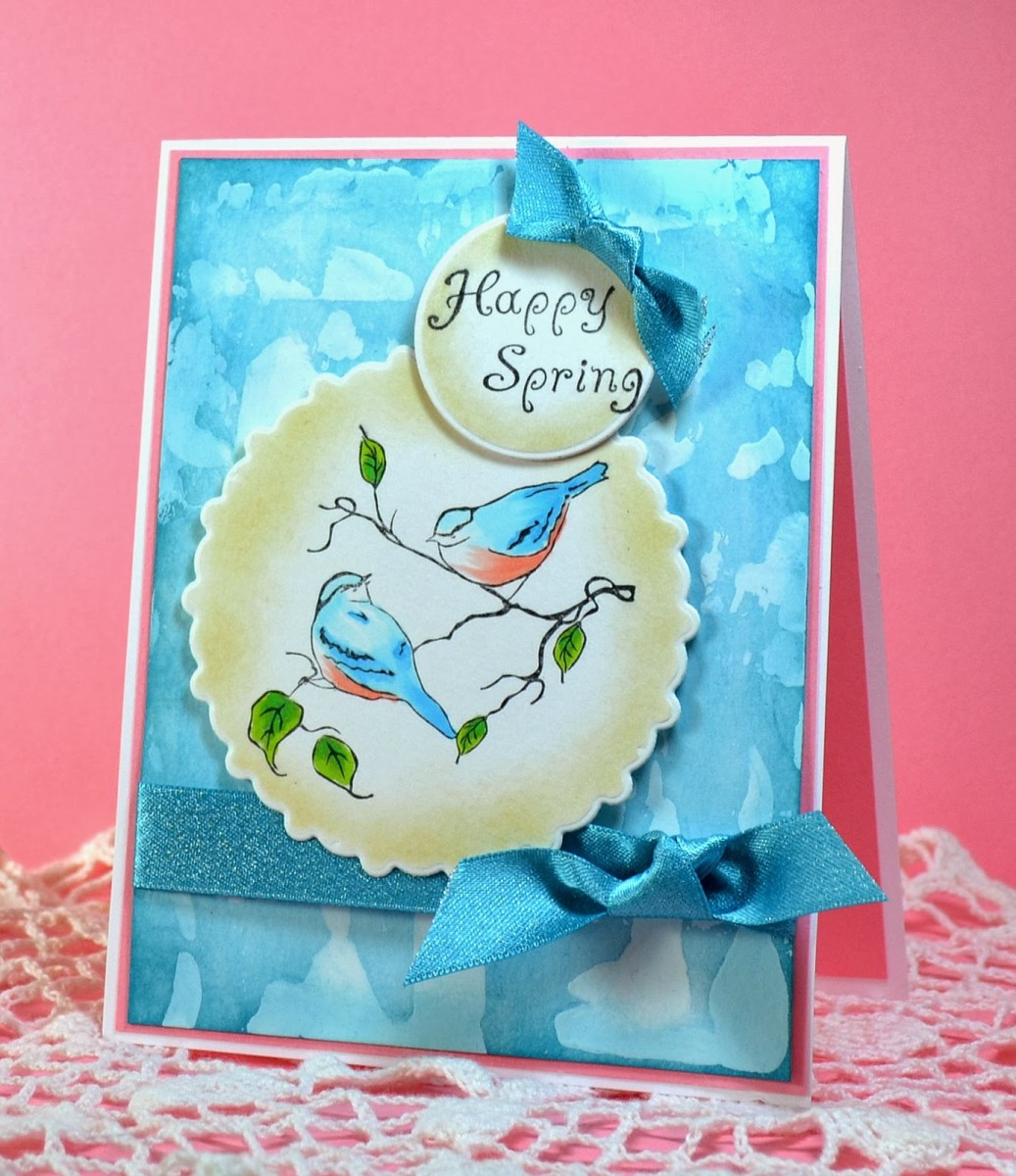 You can use thin layers of gesso on your greeting cards as a base to add a colored background,