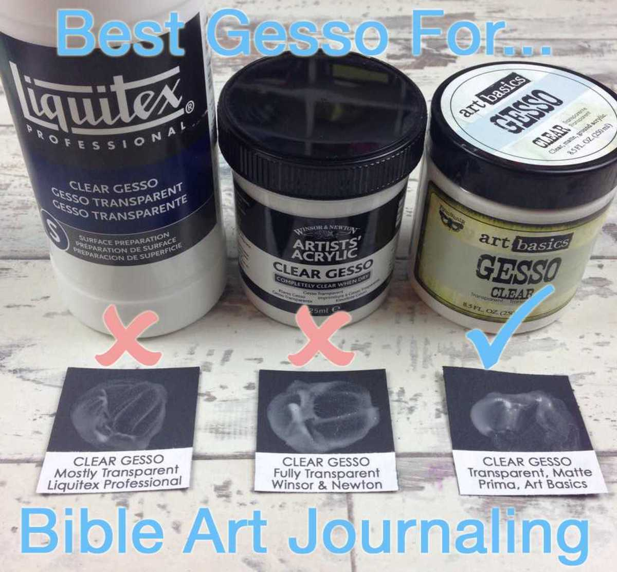 It is important to choose the right gesso for your Bible journaling