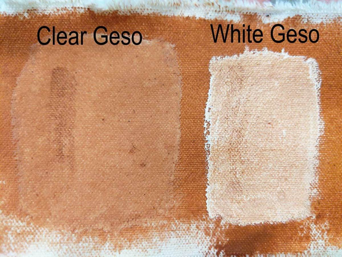 The difference betweeb]n clear gesso and white gesso