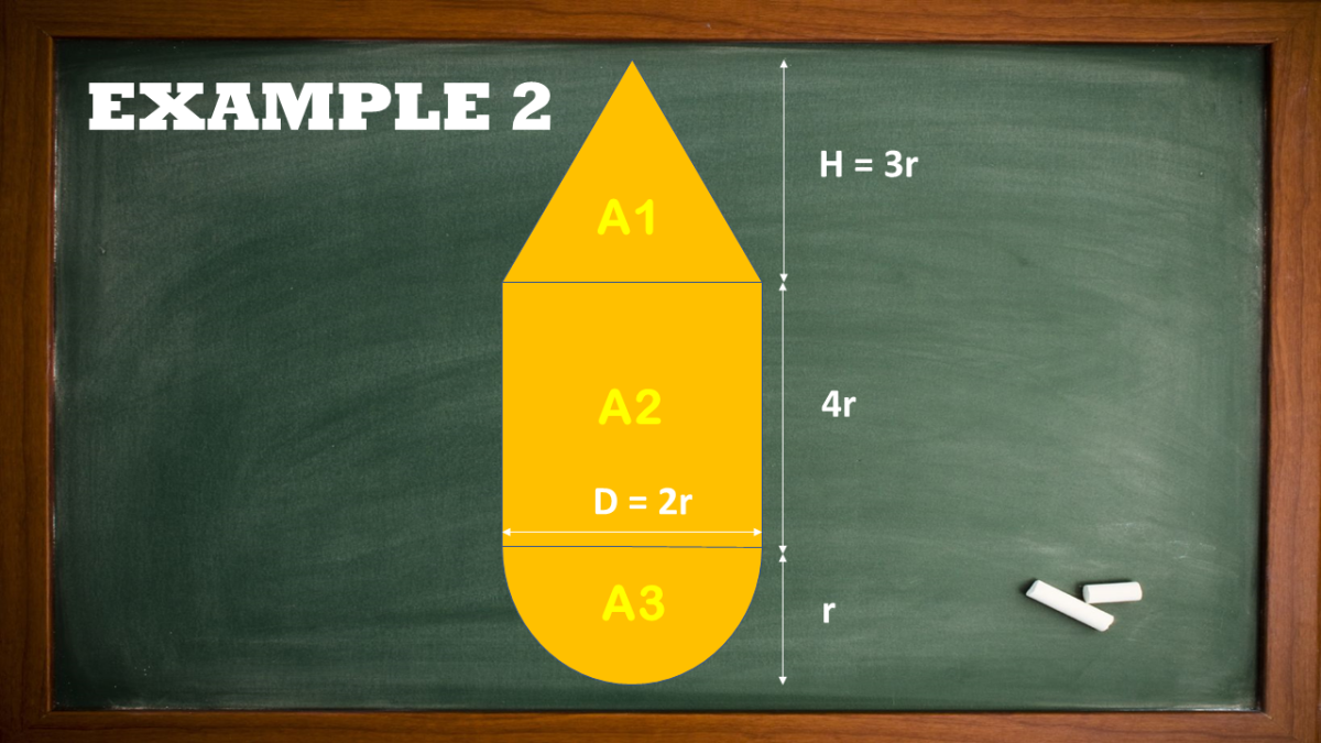 Finding the Area of a Composite Figure Composed of a Triangle, Rectangle, and Semicircle