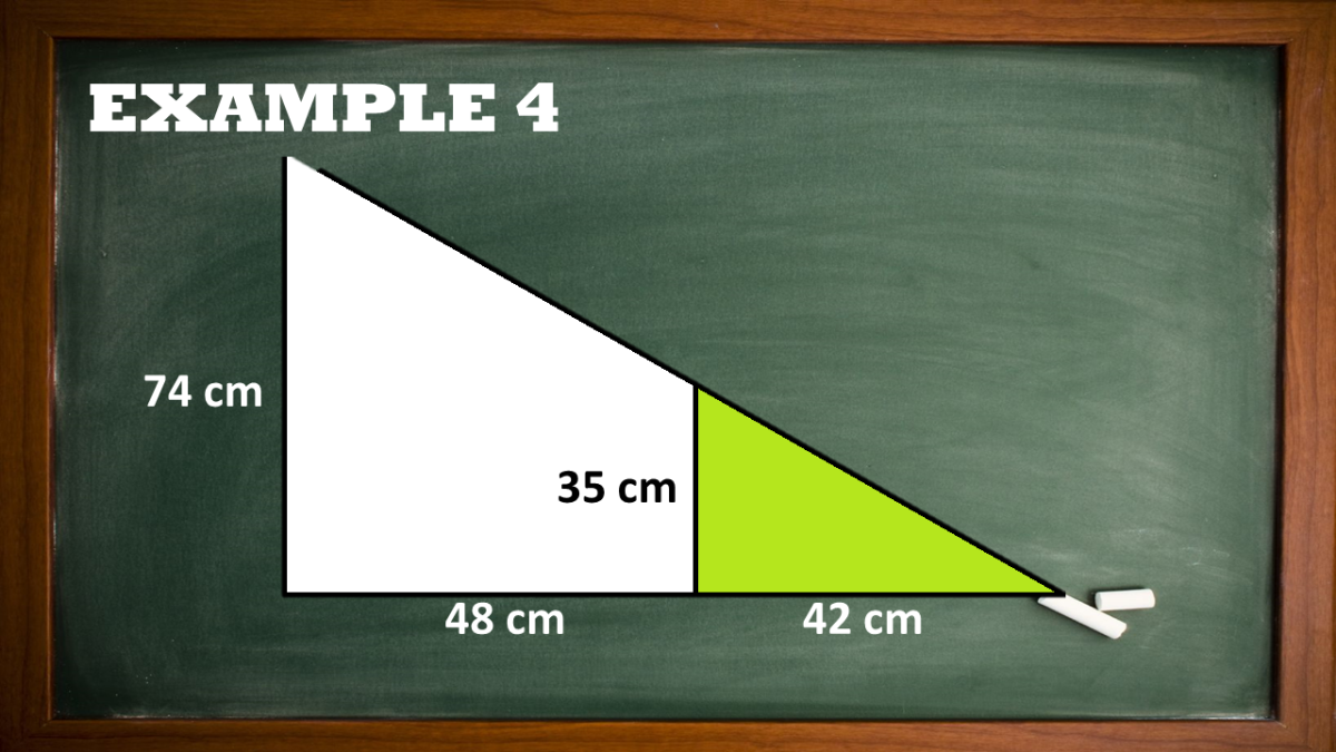 Area of Unshaded Region in a Right Triangle