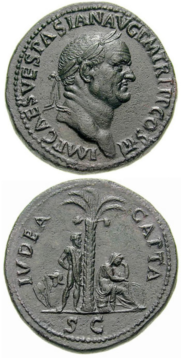 Vespasian sestertius, struck in 71. Source: CNG Coins