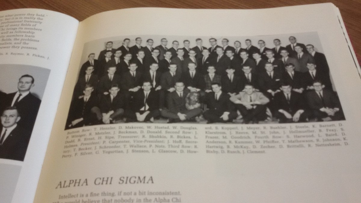 1966 fraternity members when I pledged Alpha Chi Sigma