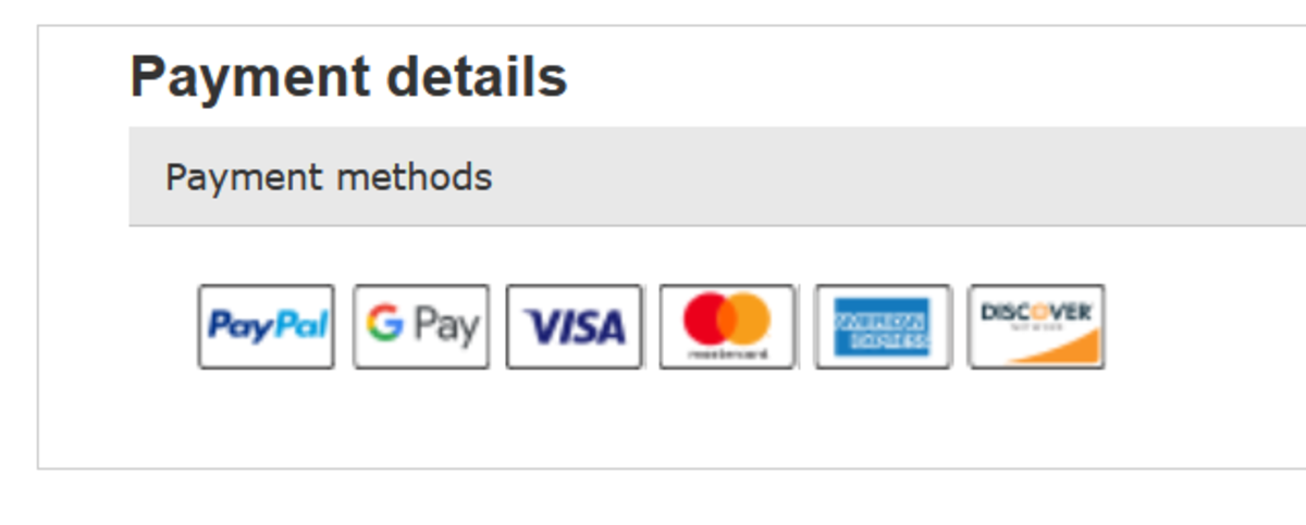 Look for this payment details section on an eBay listing.