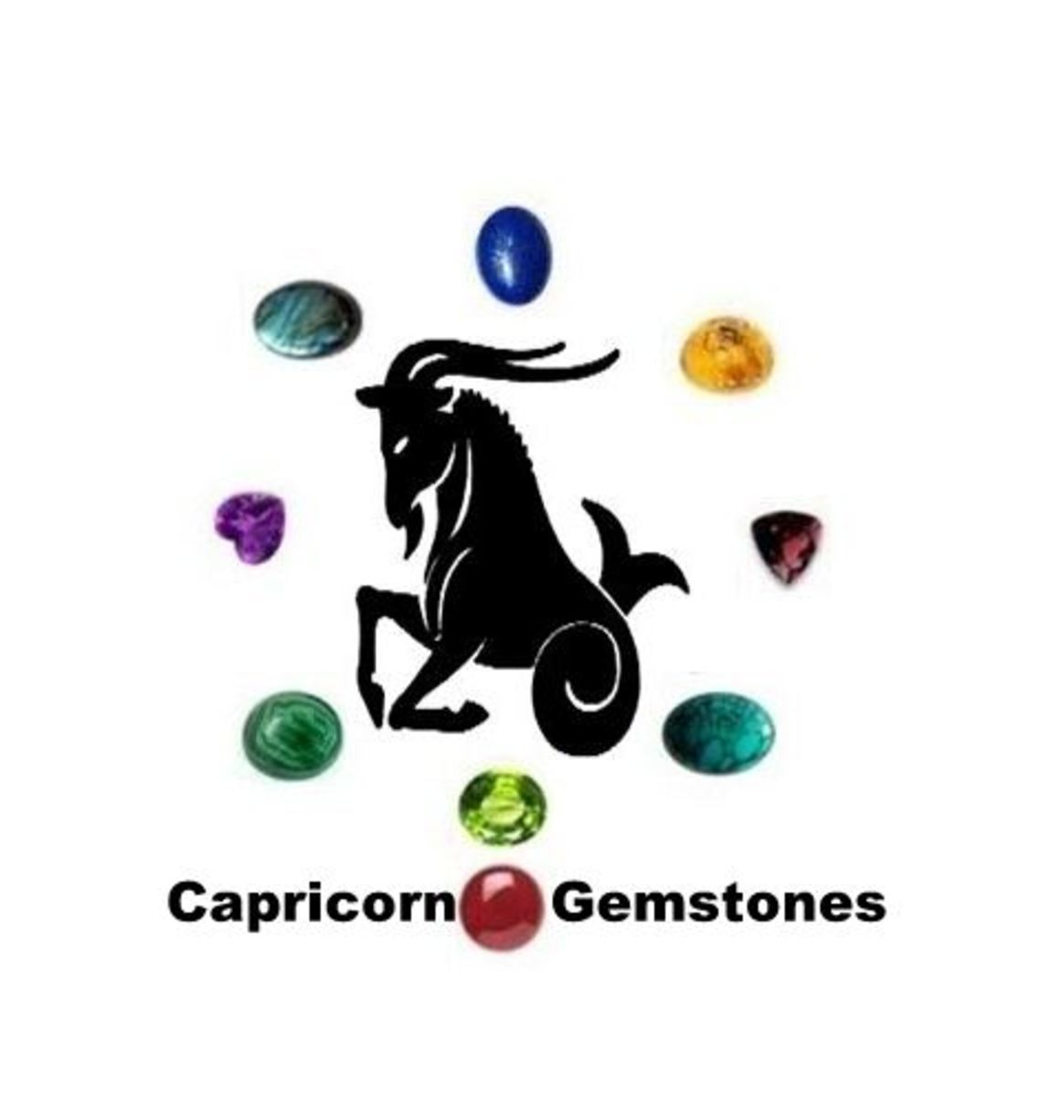 Capricorn Gemstones : Lapis Lazuli, Peridot, Amethyst, Garnet, Malachite, Amber, Turquoise, Labradorite and Carnelian.