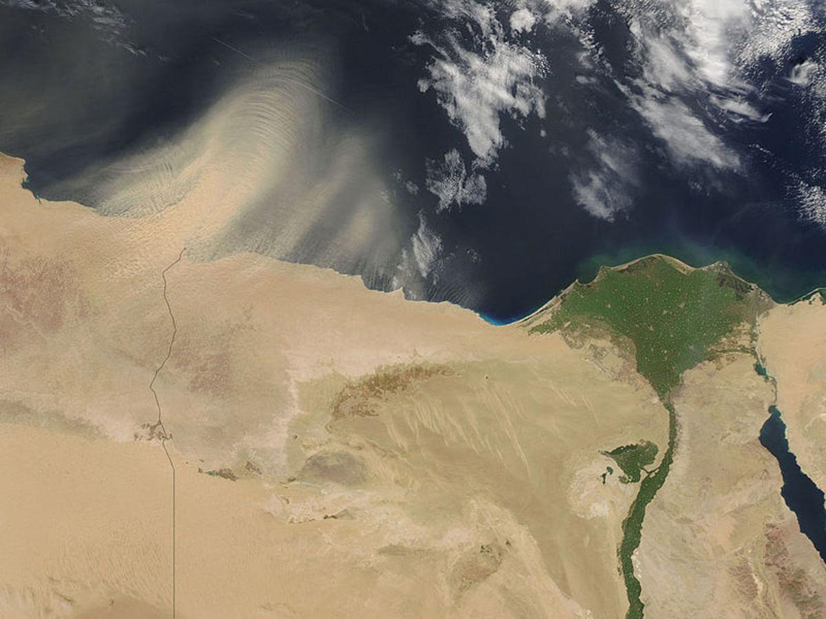 Satellite Picture of the Nile Delta, Egypt.