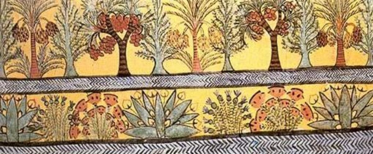 Wall painting from the tomb of Sennedjen, Dayr al-Madinah, Thebes-West.