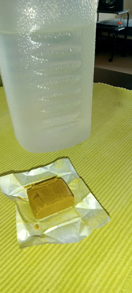 Chicken cube and water