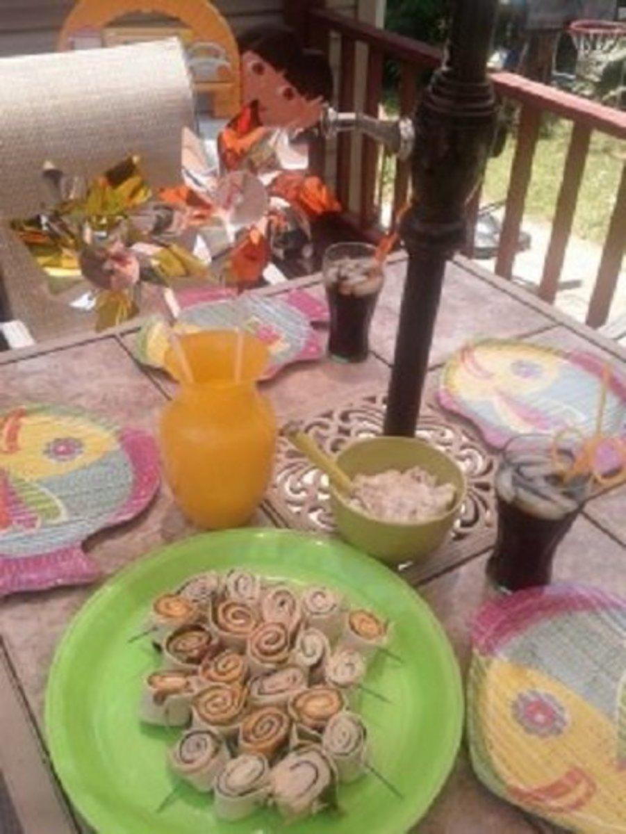 Practical yet festive, tortilla pinwheels will impress any summer guest.