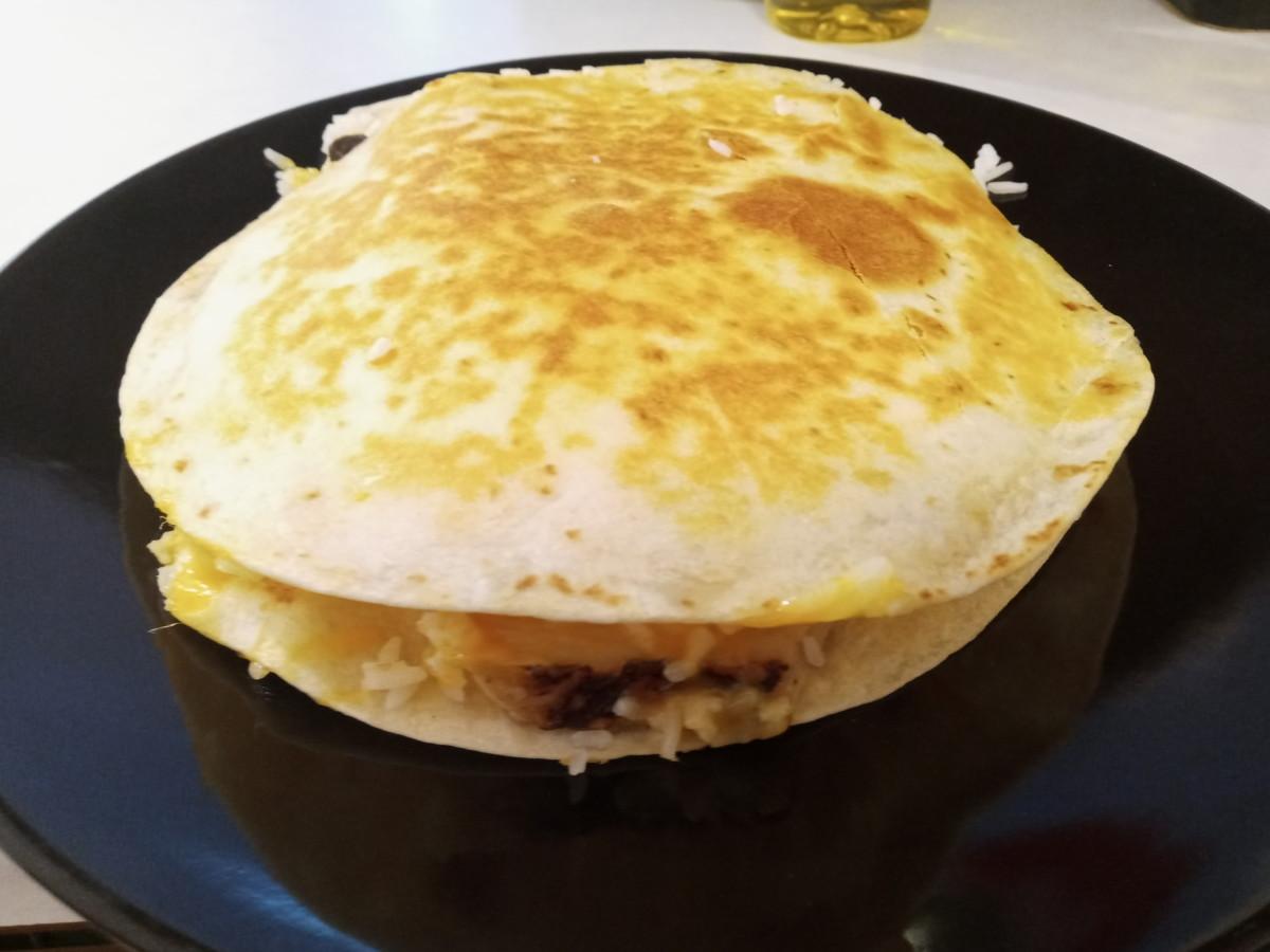 A Simple Pan Fried Rice Quesadilla Recipe