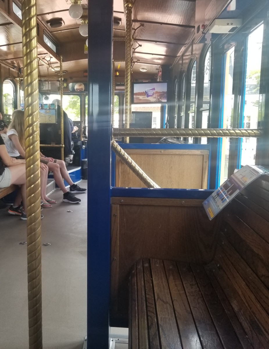The free Yorktown trolley is a terrific way to get around the area once you park.