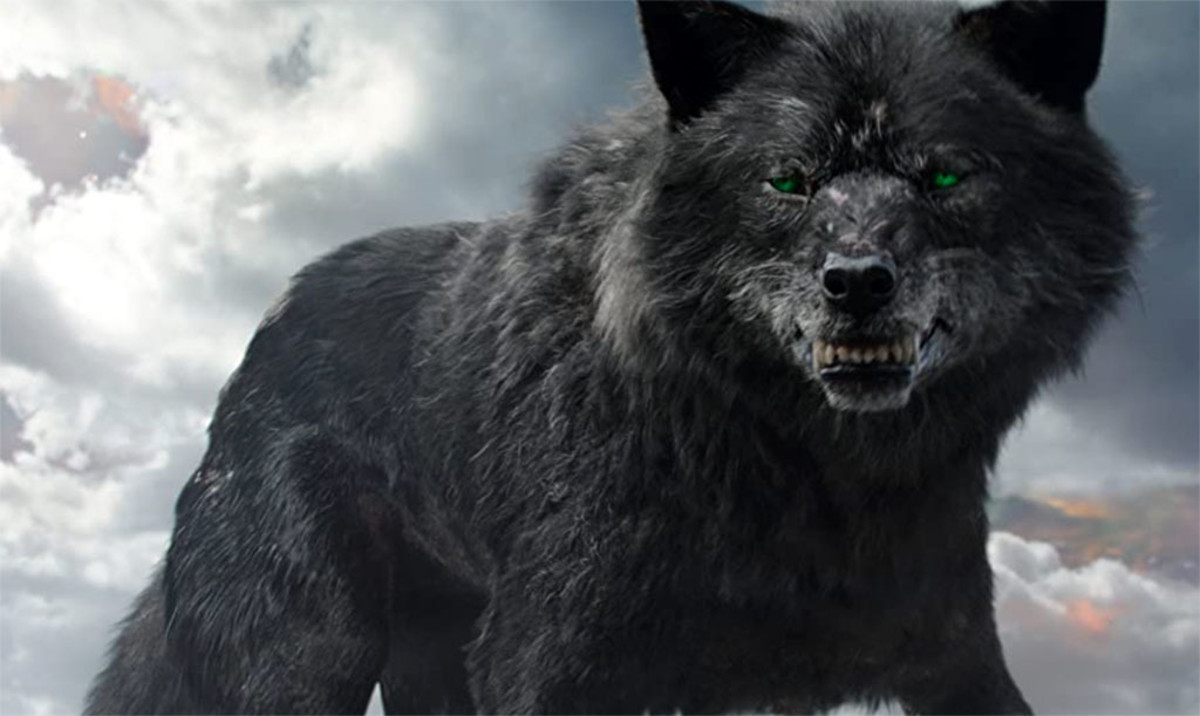 Fenrir, or the Fenris Wolf, as depicted in the movie Thor: Ragnarok.