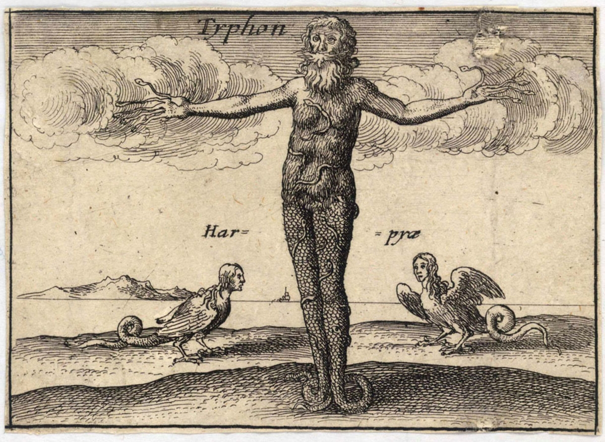 Typhon is literally the big daddy of many frightening Greek mythological monsters. Considered the deadliest monster in Greek mythology too.