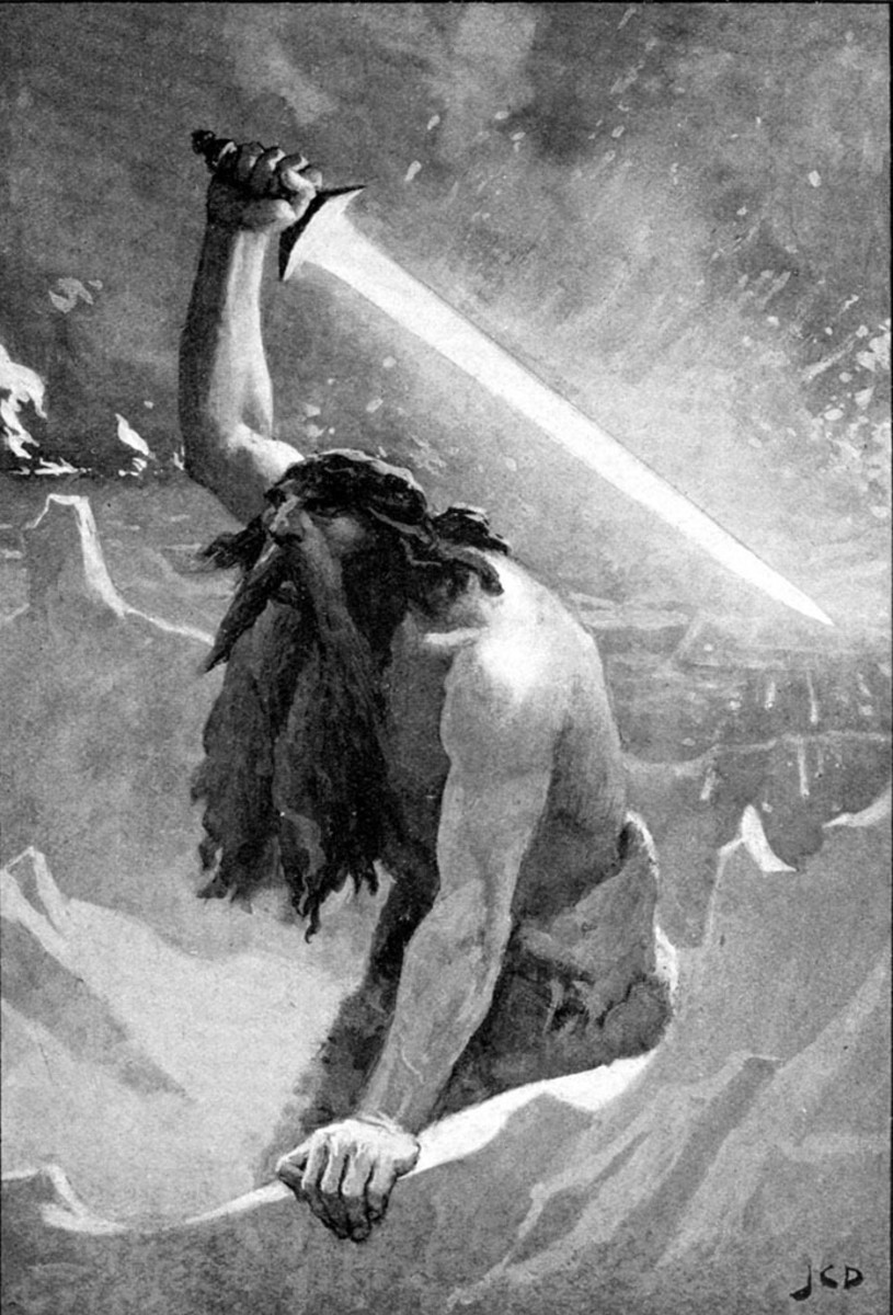 The Giant with the Flaming Sword i.e.Surtr by John Charles Dollman.