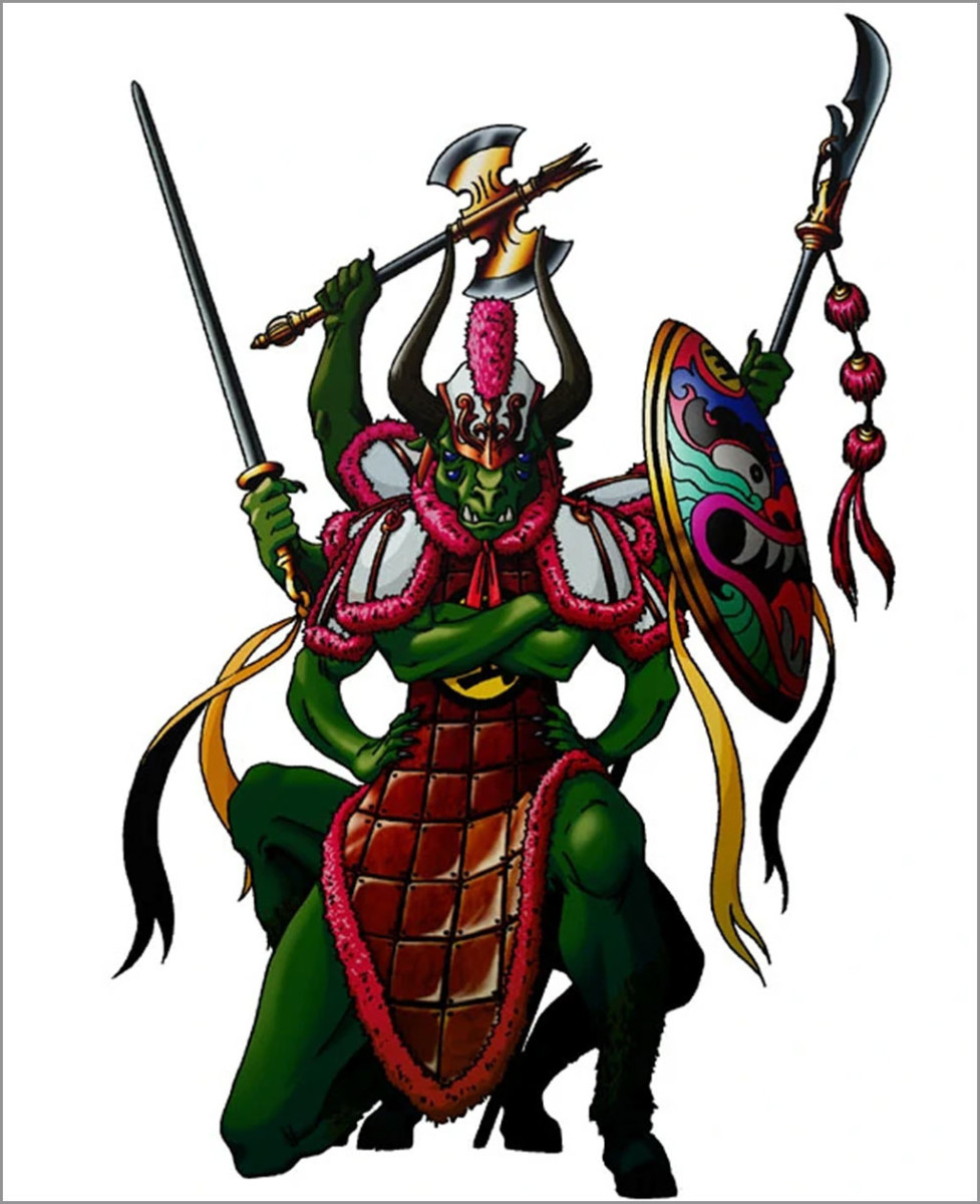 Depiction of Chiyou in the Japanese game series, Shin Megami Tensei.