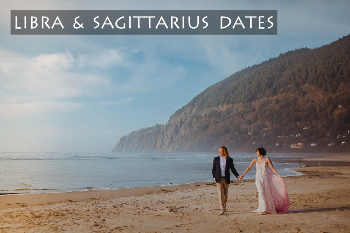 Libra and Sagittarius date ideas: (1) stroll along a beach and have a picnic, (2) horseback riding during sunset, (3) check out a festival or carnival, (4) travel to a gorgeous location, (5) drive to somewhere and stargaze.