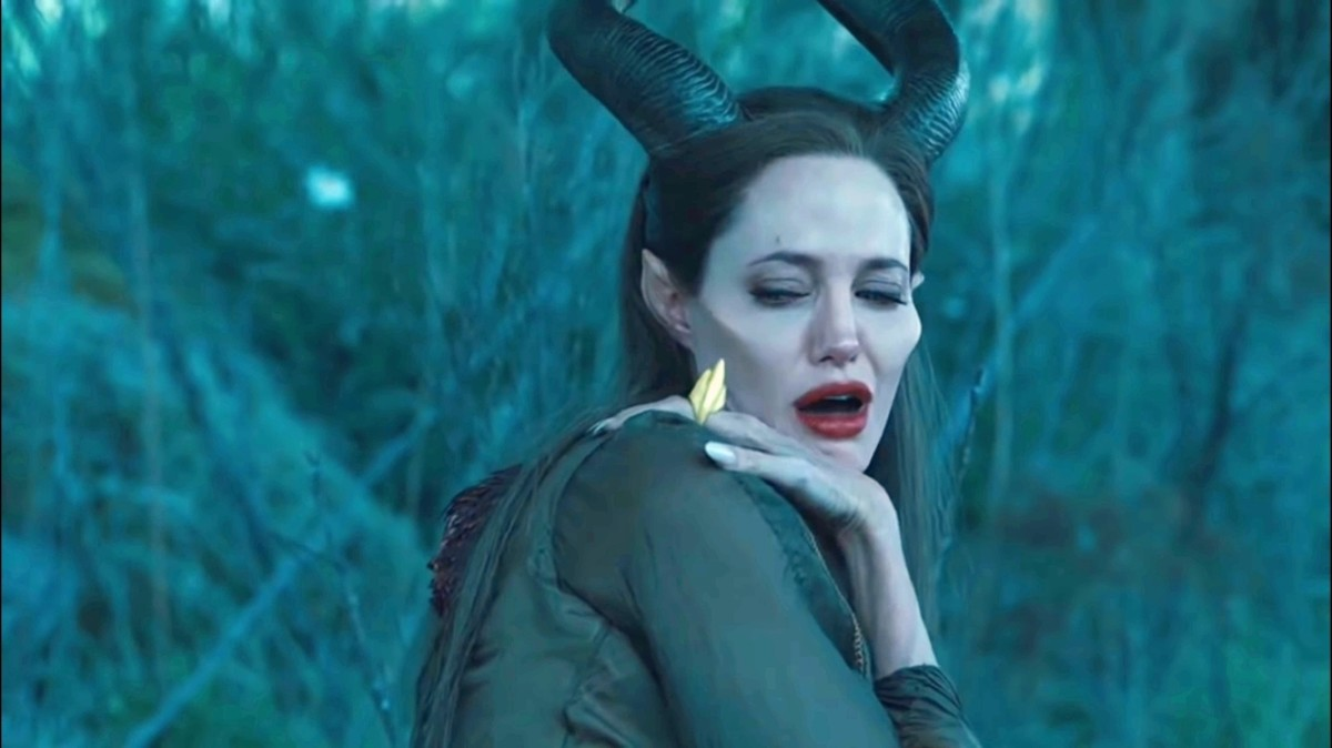 we see that when Maleficent comes into her senses she has no wings.