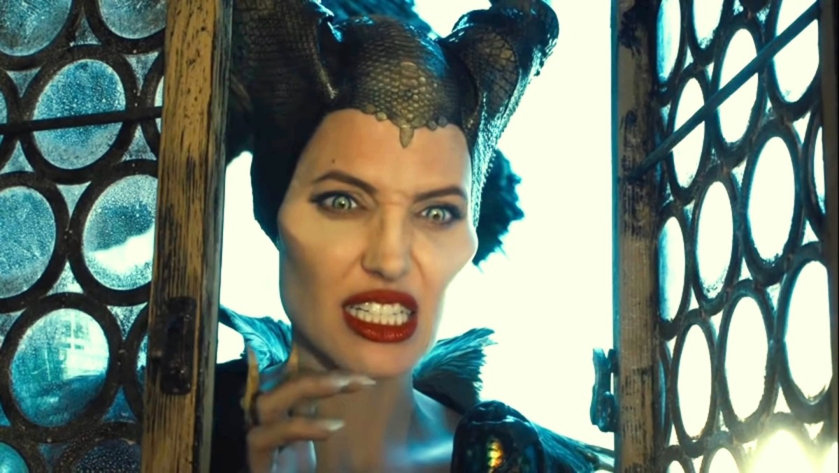 Maleficent tries to make her scared.