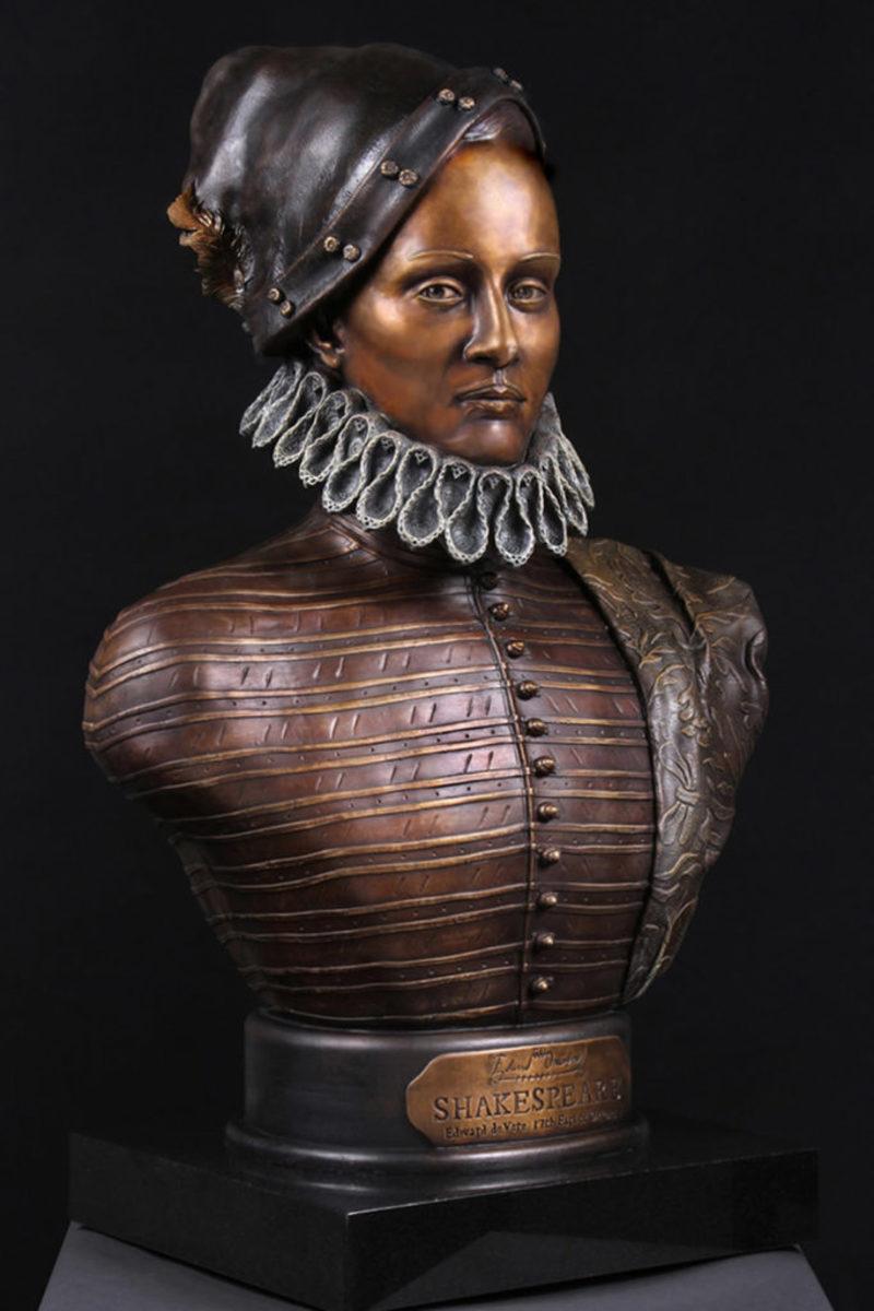 Bronze Bust of Edward de Vere, 17th Earl of Oxford