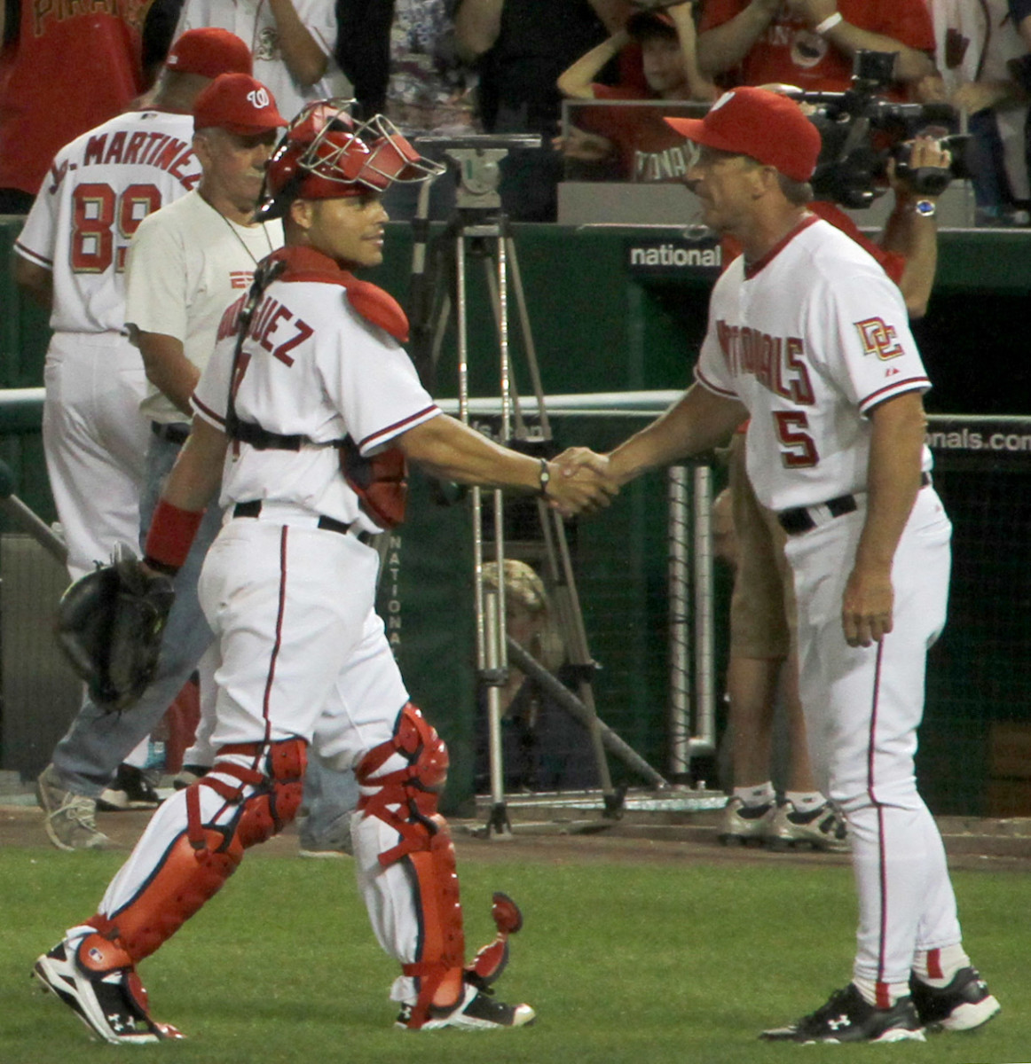 Ivan Rodriguez is most known for his time with the Texas Rangers, but spent his final two seasons with the Washington Nationals.