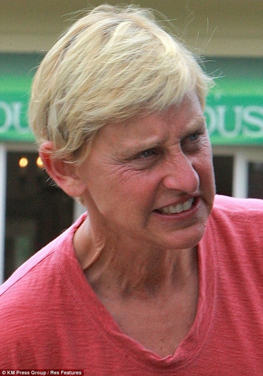 Part of Ellen's problem must be she aged horribly.
