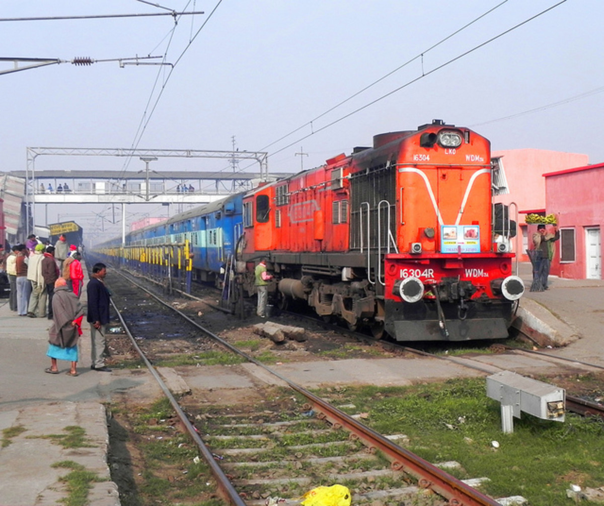 The Puri Express on the Indian Railways