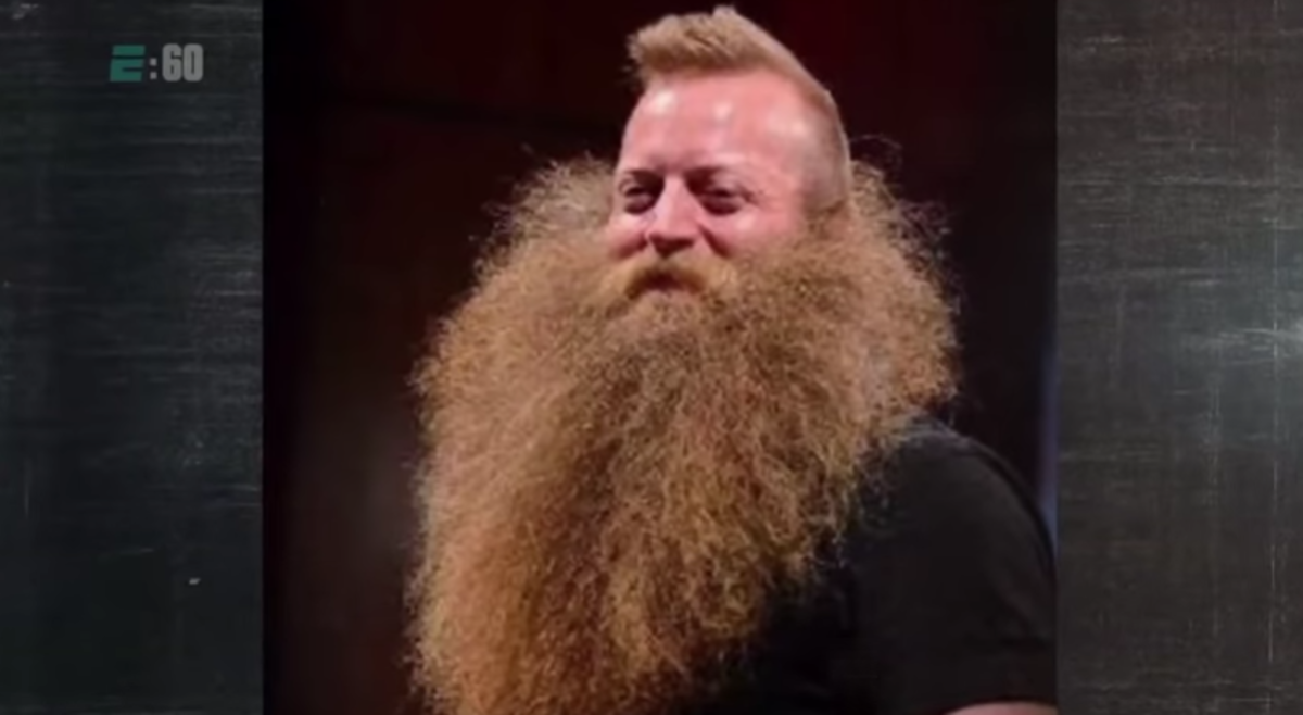 Jeff Langum; At the fourth National Beard and Moustache Championships in New Orleans.