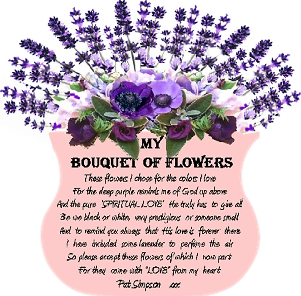 A Vase Flowers For You Thanks For Reading...Pat xxx