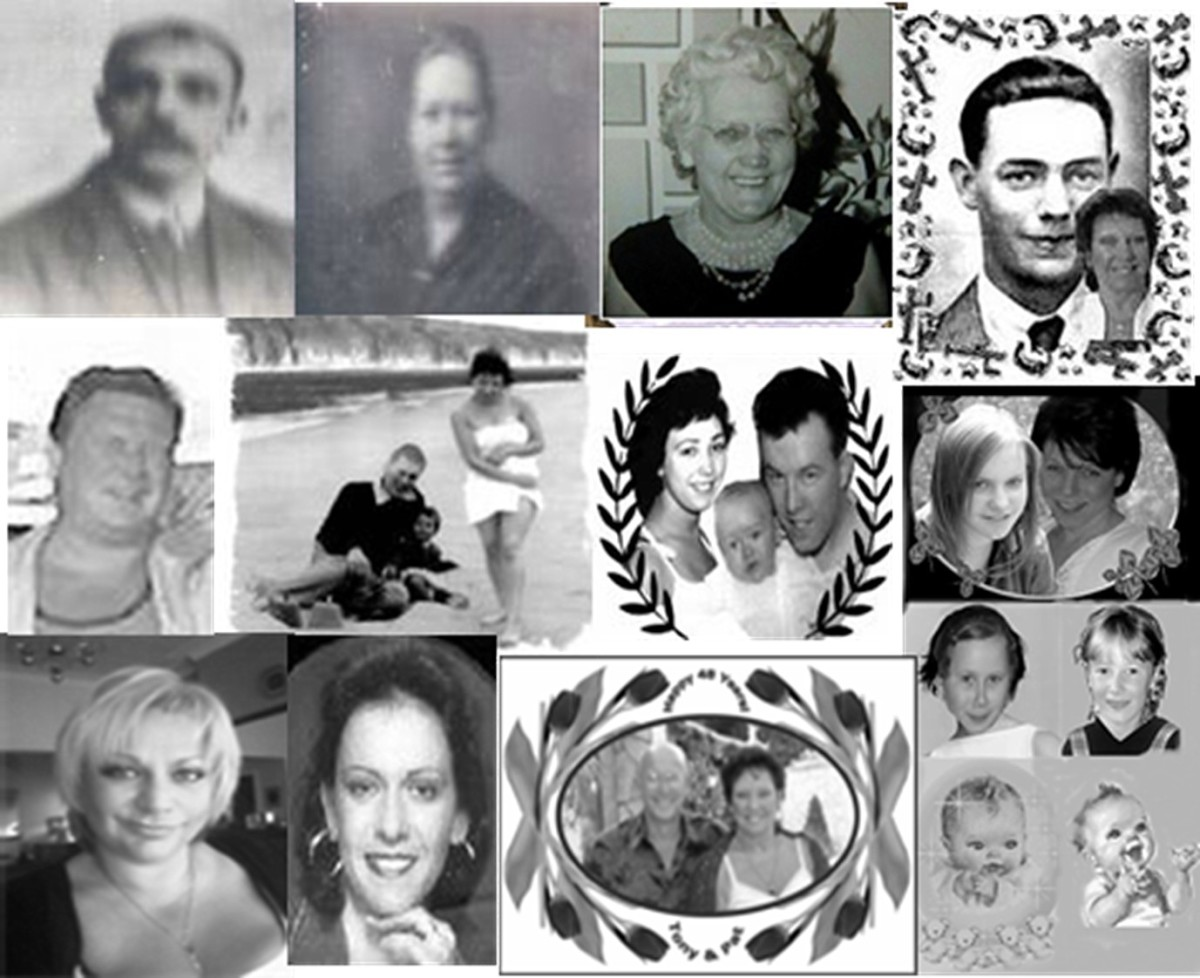 Great grandparents, parents, children and some grandchildren