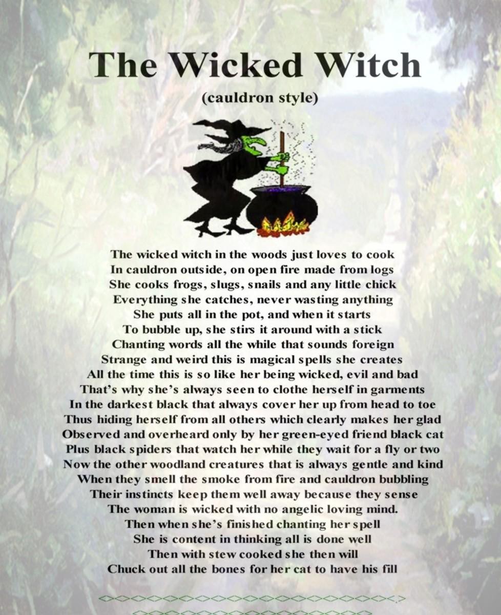 My Cauldron Shape Poem