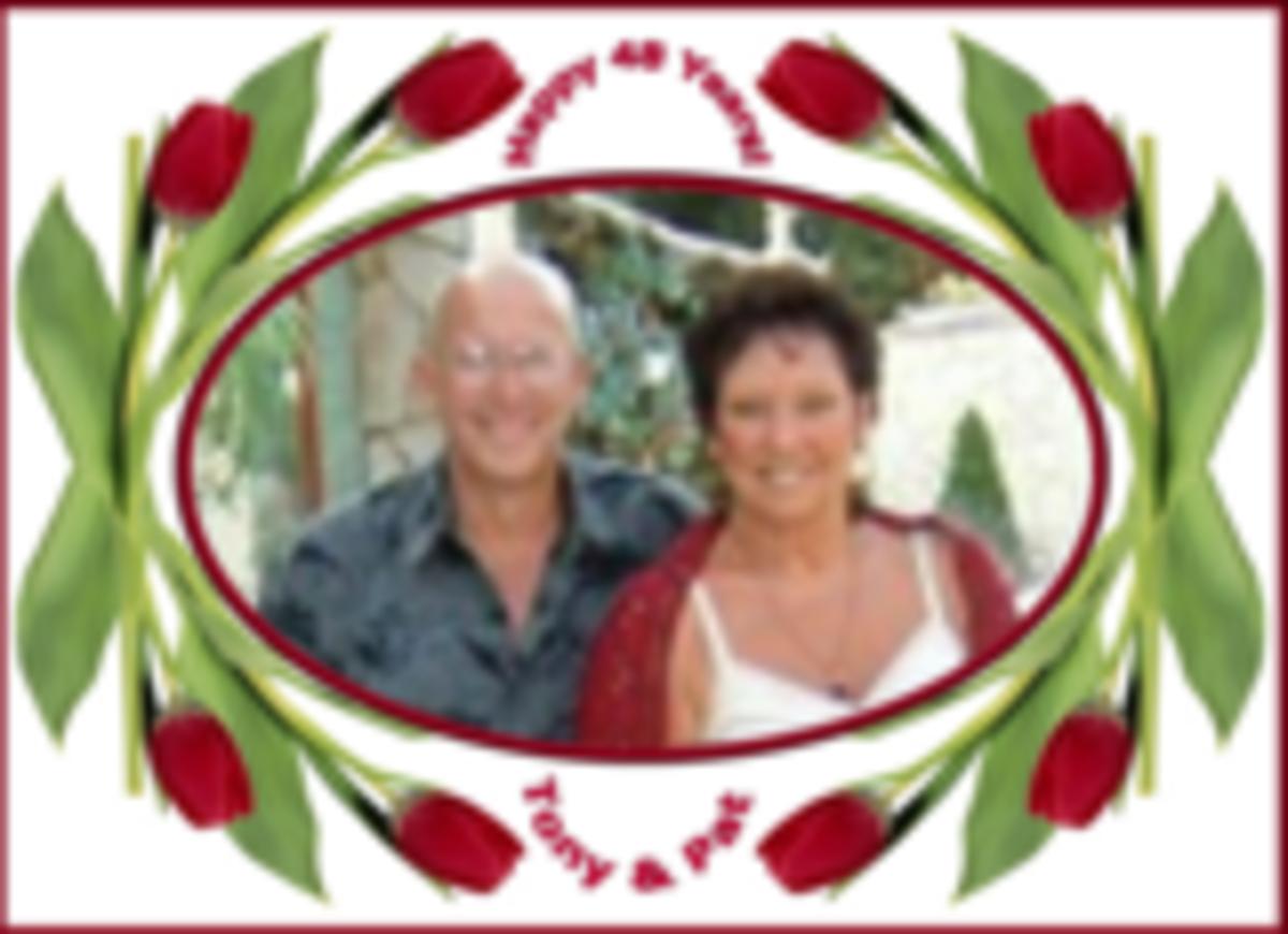 Pat & Tony my husband now of  52 years.