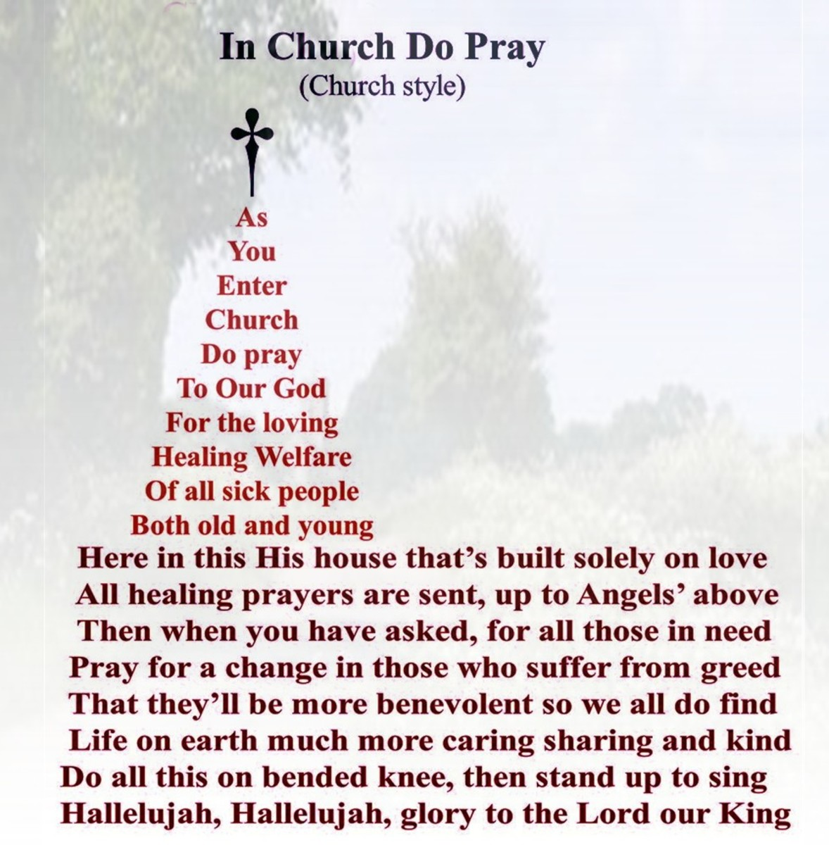 "My ""Church Style""  Poem Form Creation"