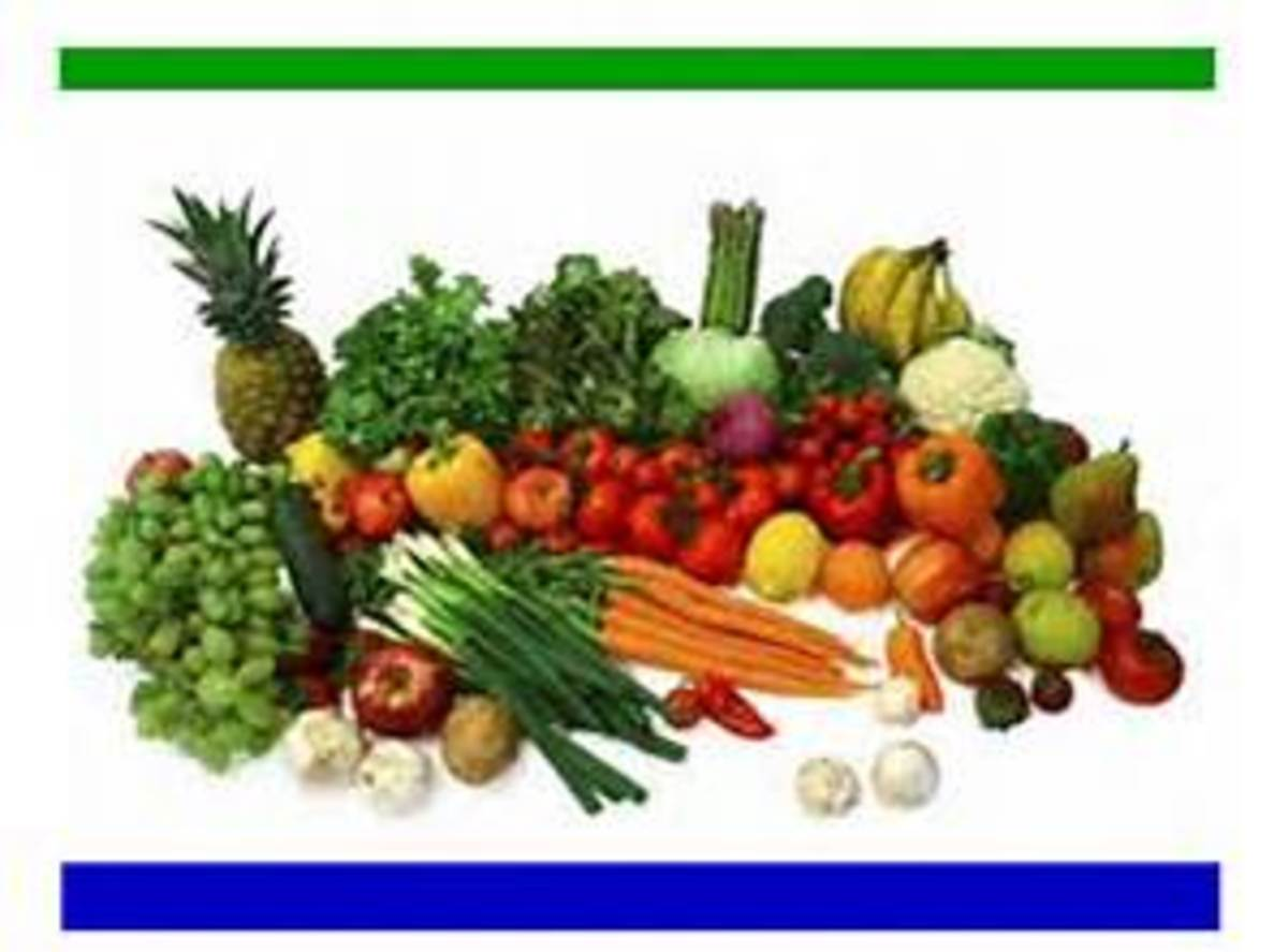 Eat lots of fresh fruits and vegetables.