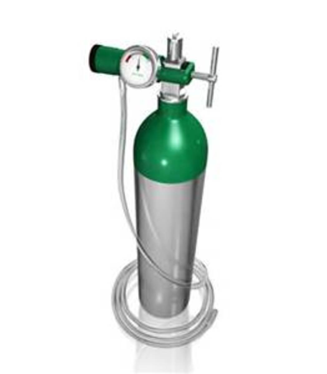 Oxygen tank, if you're on oxygen therapy