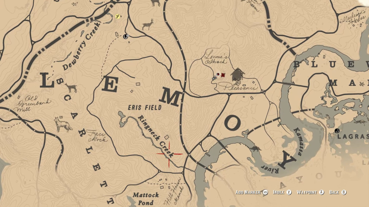 Map Location of the Double Action Revolver