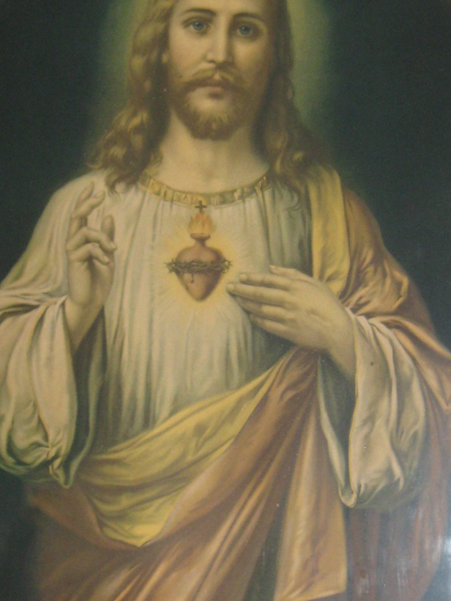 Sacred Heart Picture in my bedroom