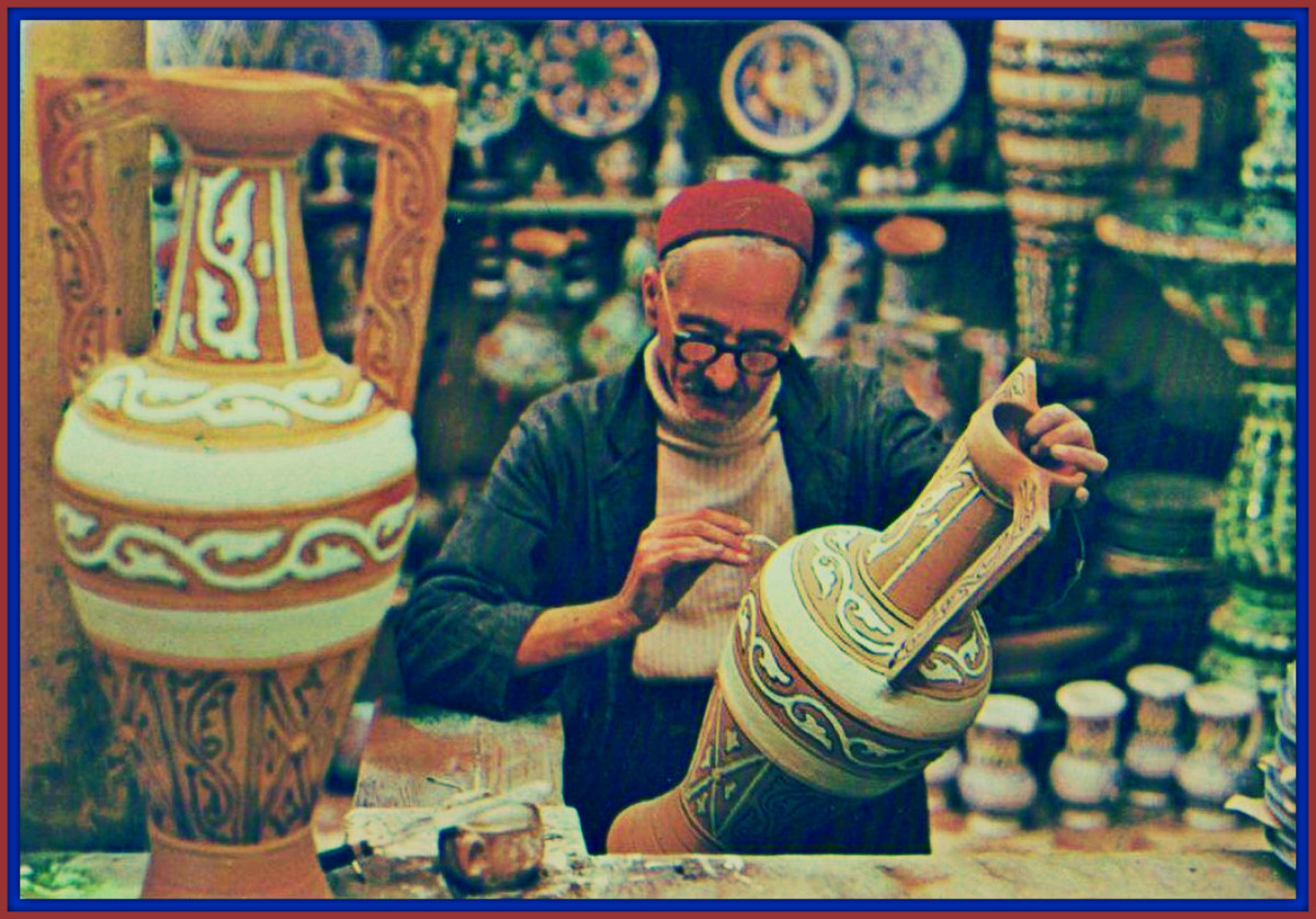 Look at the skill this man has, in the region where Ancient Carthage was located in North Africa they still make beautiful pottery. This region is now the nation of Tunisia is today …