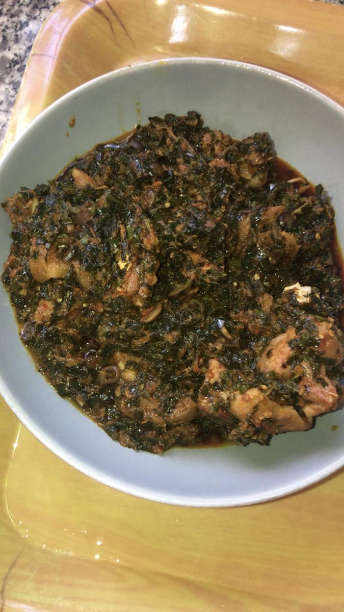 Nigerian kale sauce