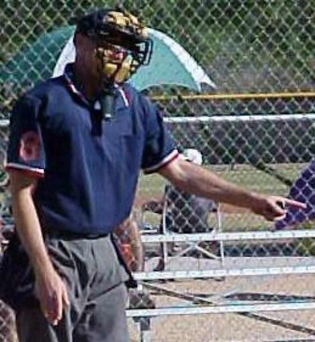 I've used indentations in the dirt, marks on the ball and chalk lines as proof. Don't call what LOOKS to be the call. Only call what you can see. If you didn't or can't see it, call time and talk in private.