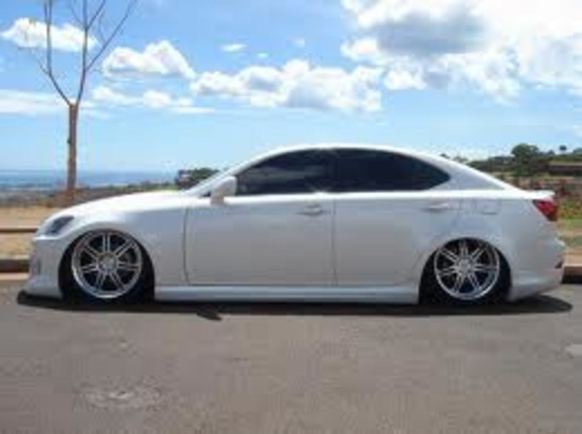 Achieving this type of stance in ride height can only be achieved using air suspension.