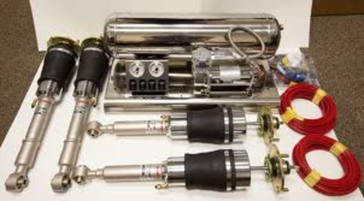 Sample of what an airbag/air suspension kit consists of.