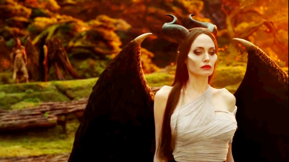 Maleficent arrives there.Then she changed that crow into a big bear.