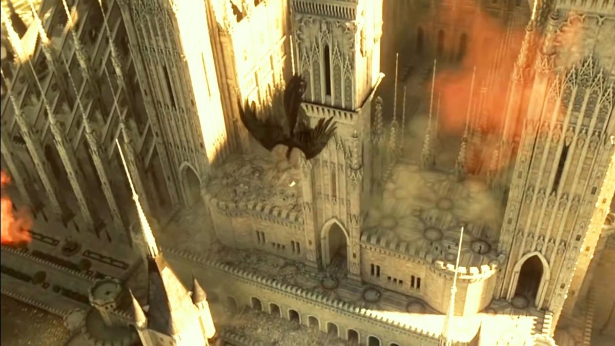 Maleficent saves Aurora.