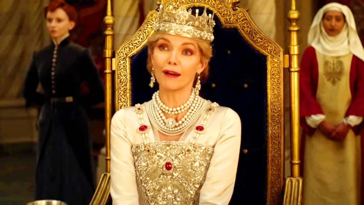 The queen continuously instead of making Maleficent happy or impressed.She makes her remember the old time of her.