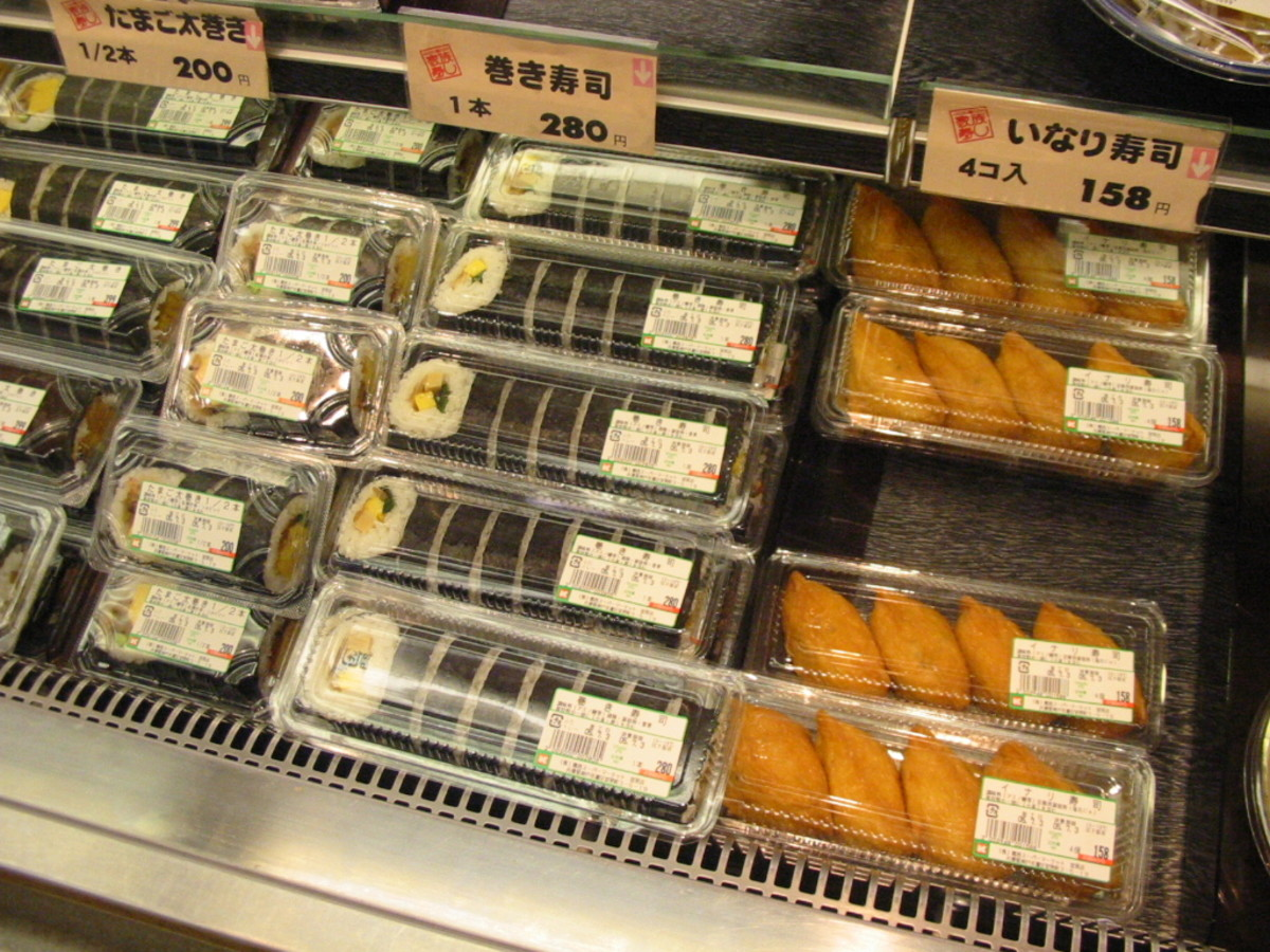 Packaged sushi