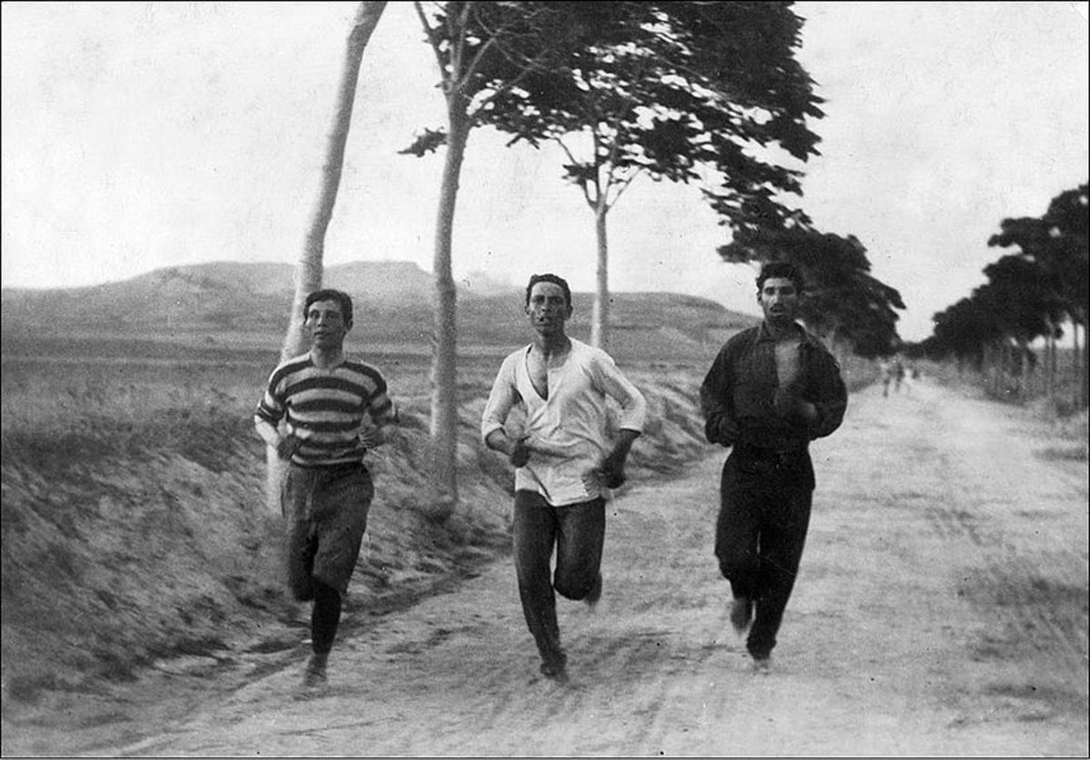 1896 Olympic Marathon...lots of running...
