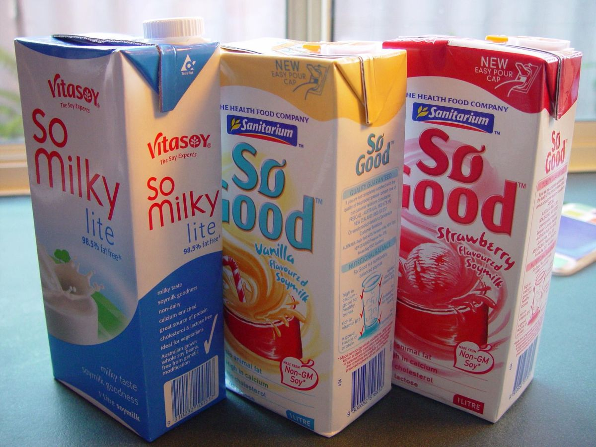 I don't care what flavor it is...I don't like soy milk--wikimedia commons