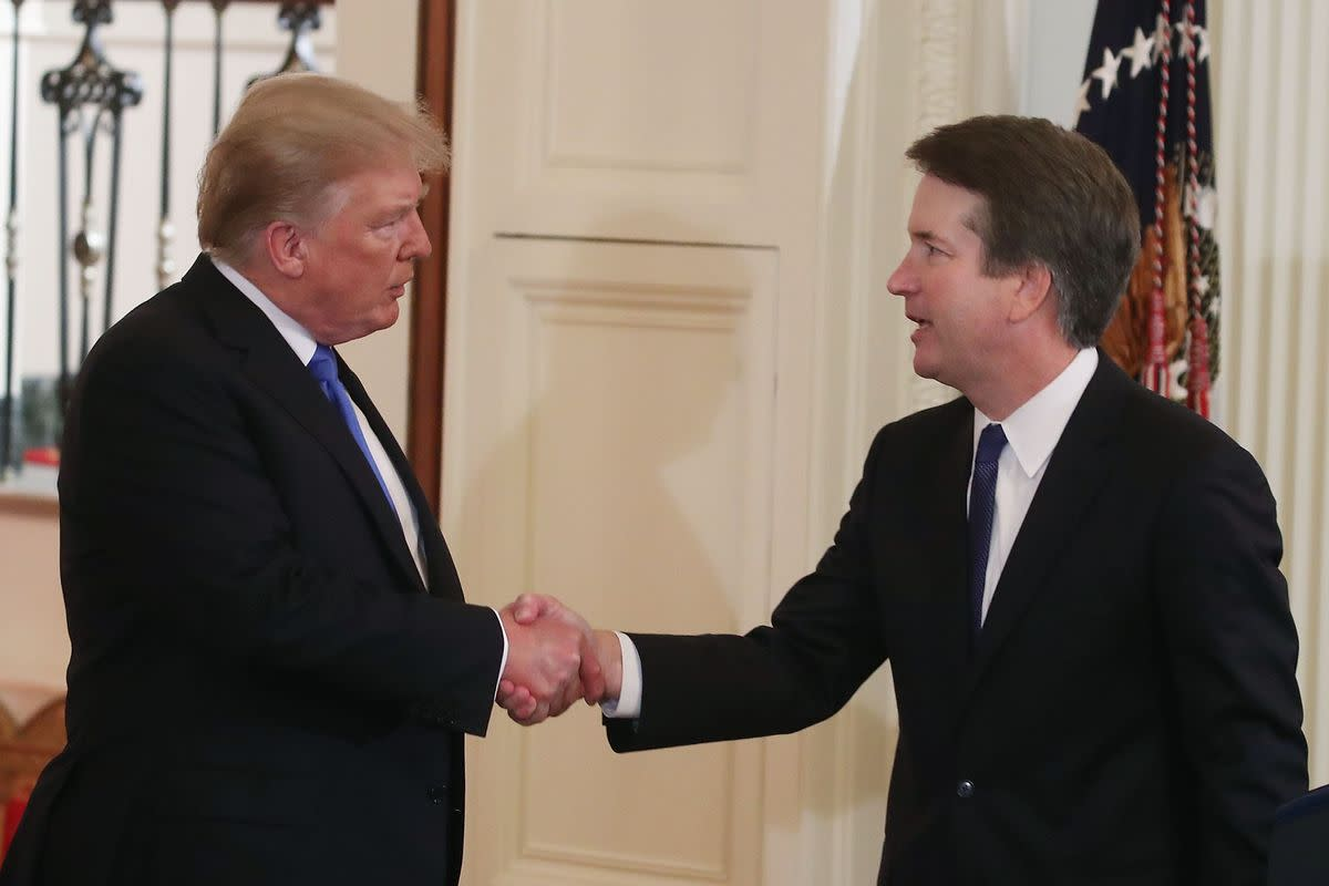President Trump and Justice Kavanaugh